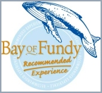As a Bay of Fundy Recommended Experience we exceed Bay of Fundy Tourism's rigorous standards of quality, customer service, ecological sustainability, and Fundy knowledge